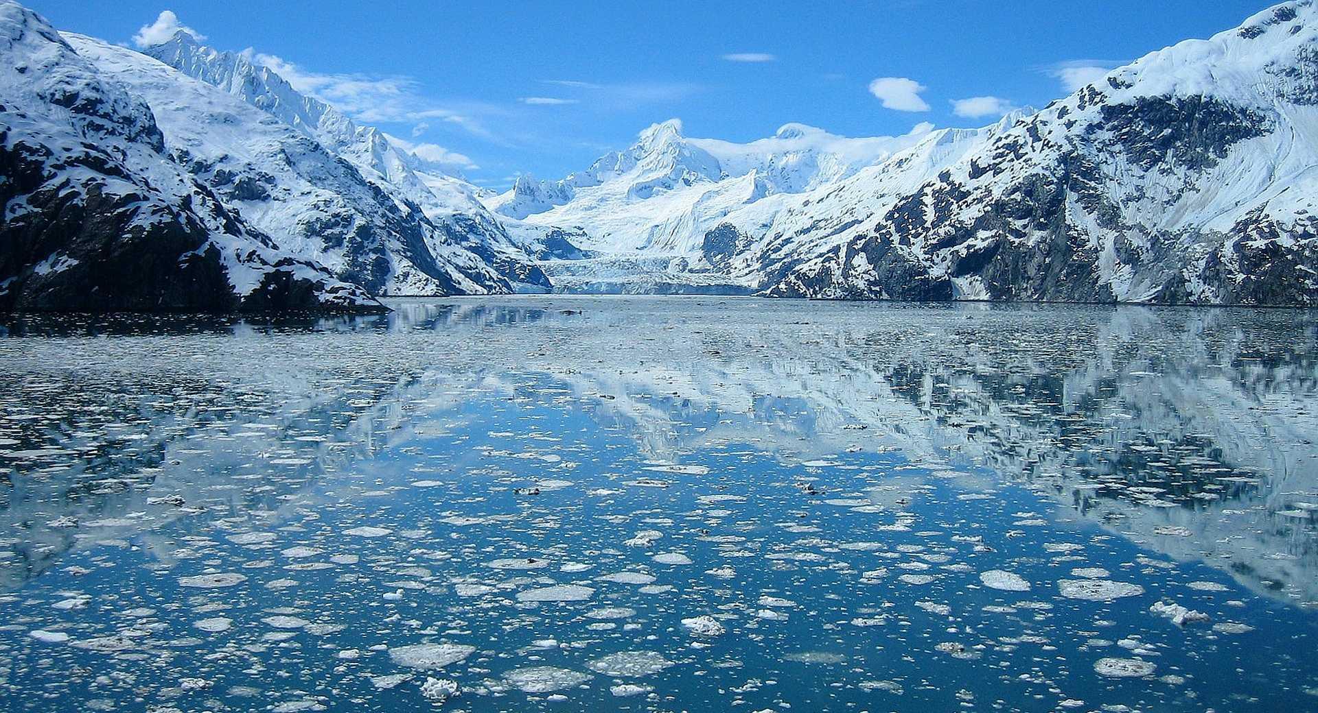 Photo d'un glacier en Alaska
