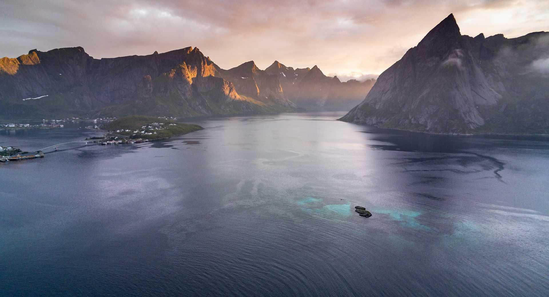 Fjords Norvège, iles Lofoten