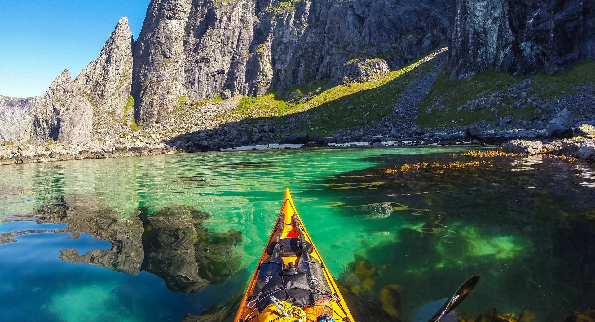 Kayak de mer dans les Lofoten