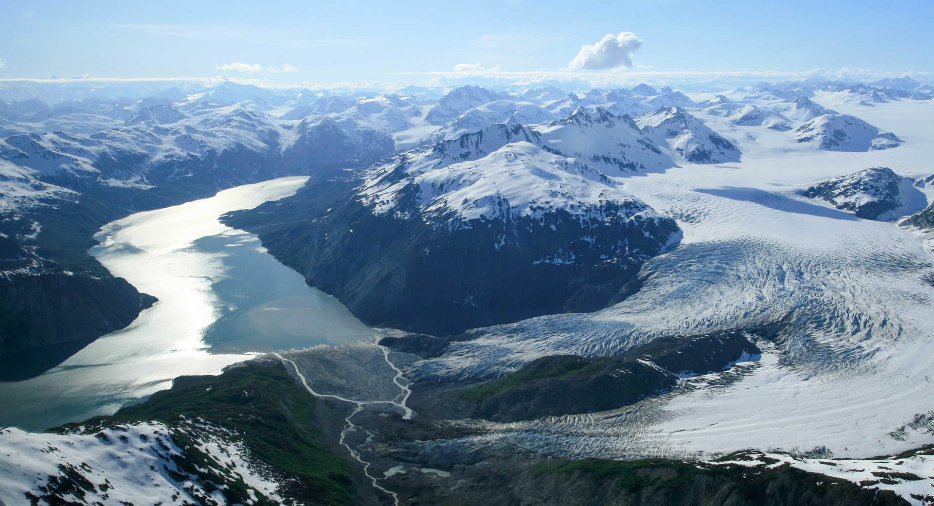 Paysage de l'Alaska l'été