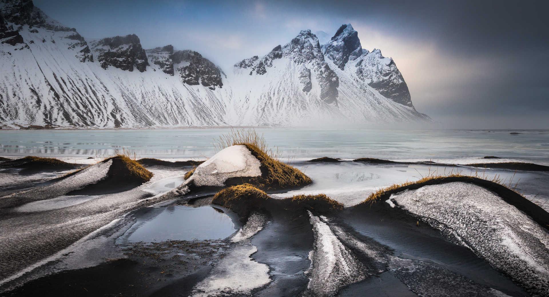 Paysage islandais en hiver
