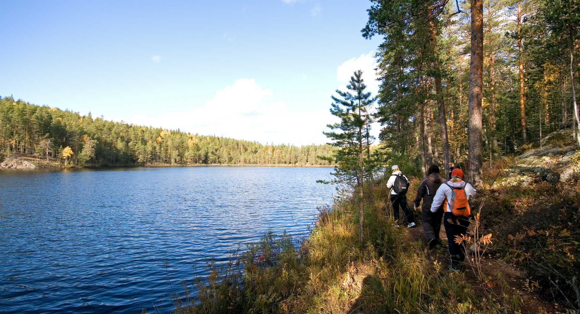 Randonnée en Finlande l'été