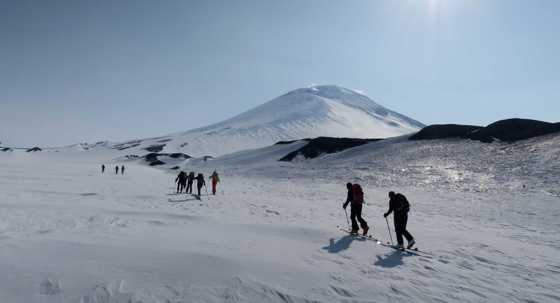 Ski de randonnée au Kamchatka