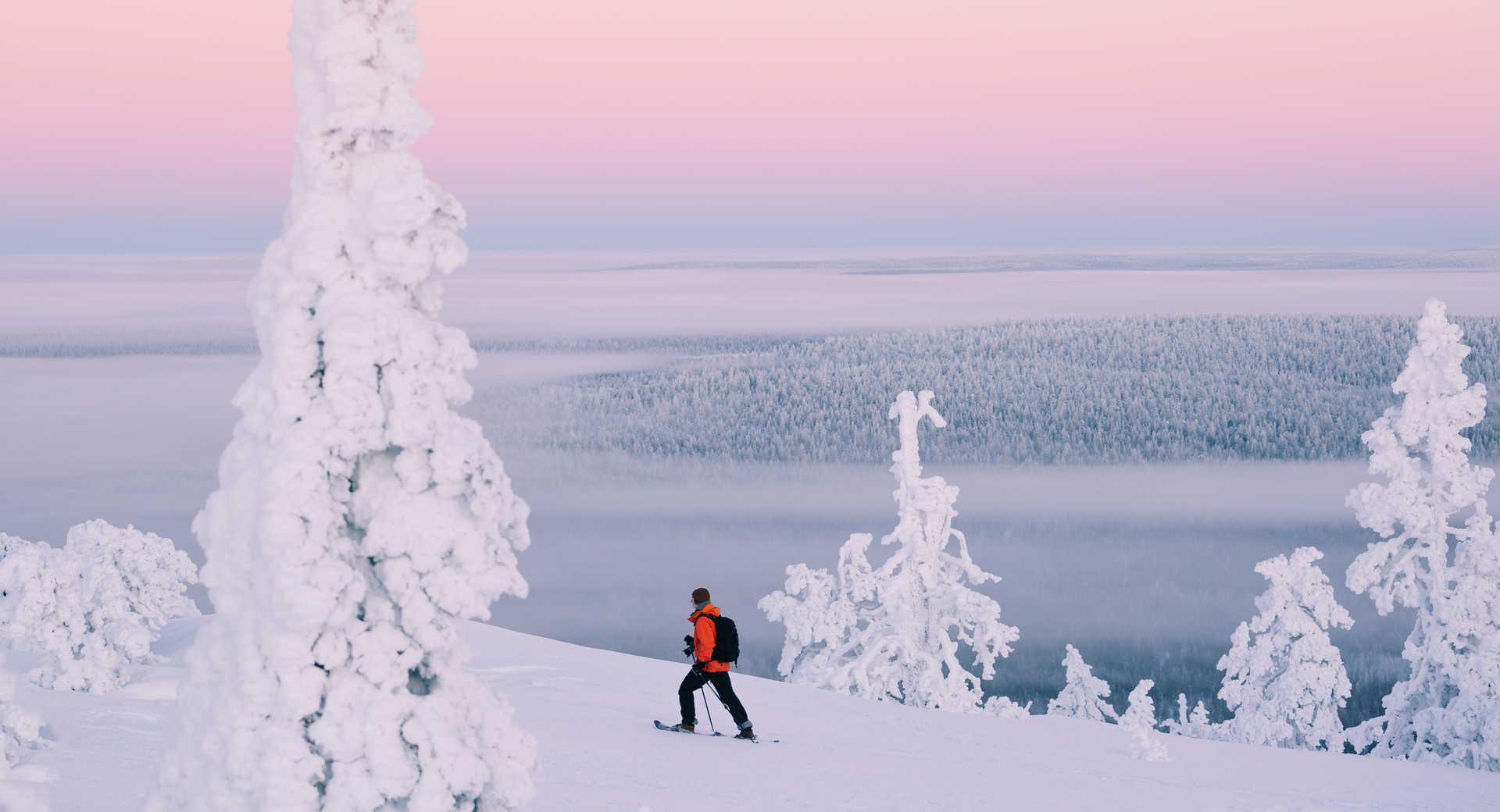 Ski en finlande en hiver