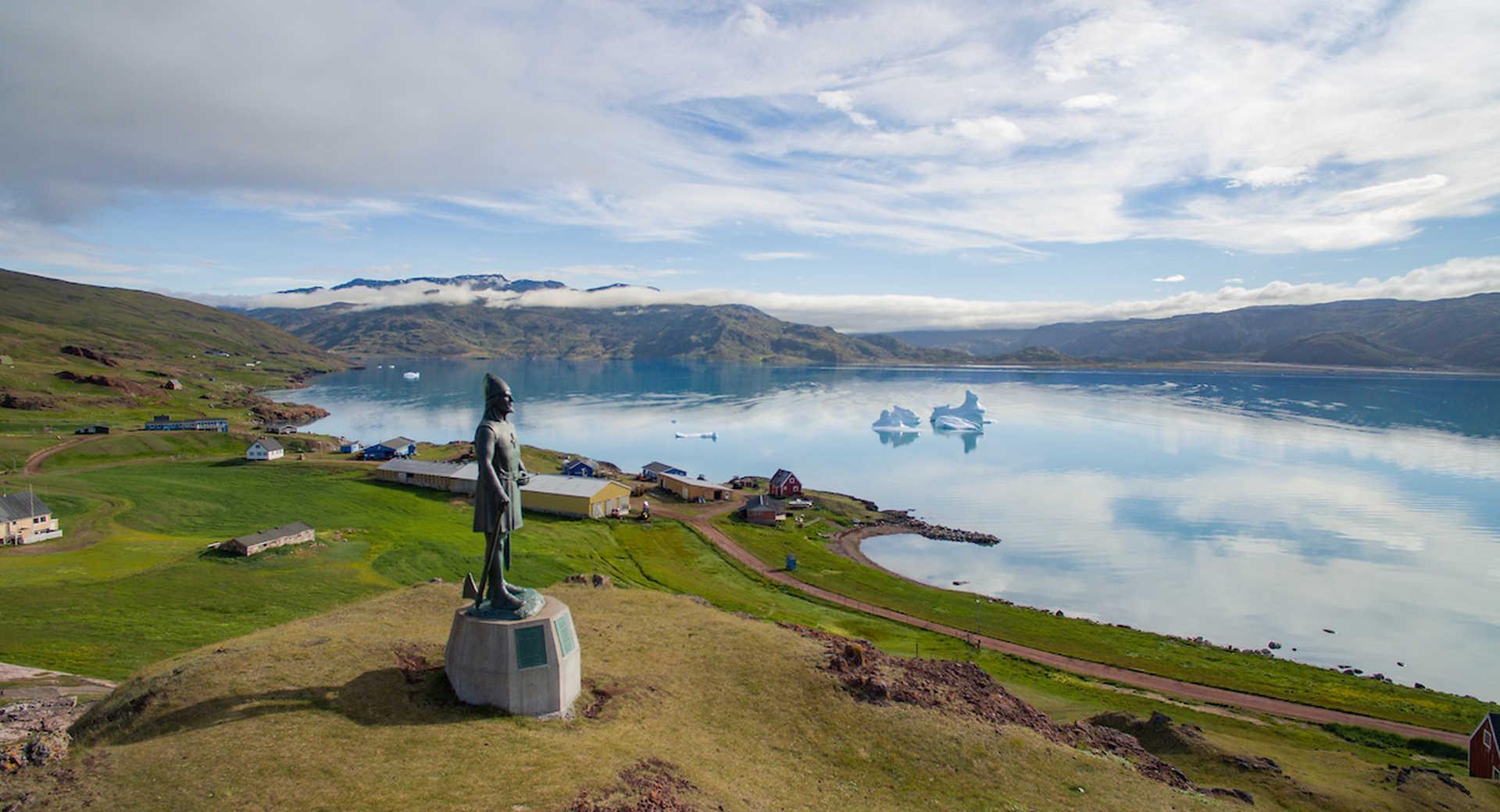 Statue du Viking Leif, Sud Groenland