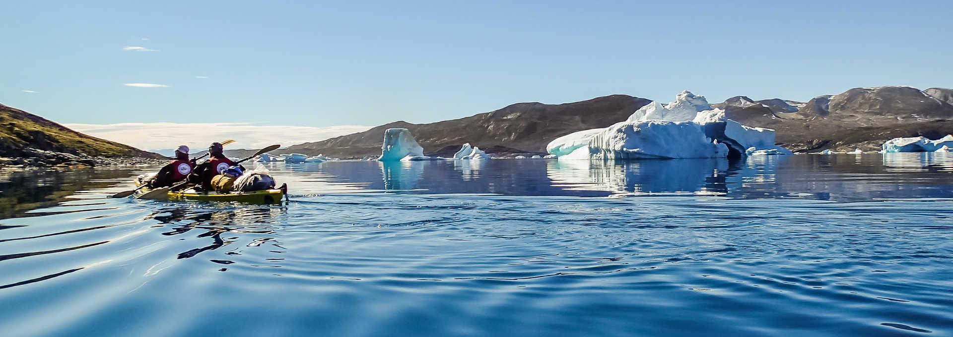 Voyage en kayak au Groenland l'été