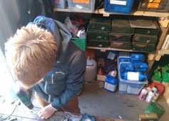 Atelier réparation sur notre base Spitzberg