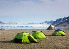 Camp au Nord du Spitzberg, Svalbard