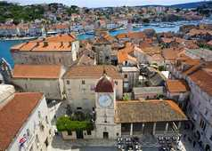 Croatie, vue aerienne sur Trogir