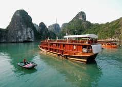En bateau de la baie d'Ha Long