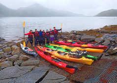 Equipe Norvège, formation kayak