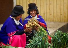Femmes dans un marché colombien