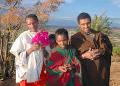 Jeunes hommes des hauts plateaux éthiopiens