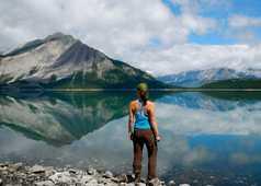 Lac dans les rocheuses canadiennes