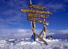 Le Kibo, le toit de l'Afrique et du massif du Kilimandjaro