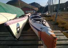 Logistique kayak de mer au Spitzberg, base 66°Nord