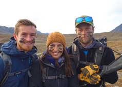 Ludovic, Emmanuelle et Yannick, équipe Spitzberg