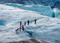 Marche sur le glacier du Vatnajokull