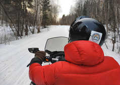 Motoneige au Canada l'hiver, Québec