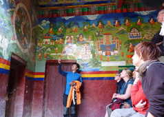 Peintures murales dans les grottes d'ermites à Saspol