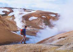 Randonnée à Landmannalaugar, Islande