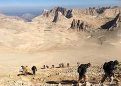 Randonneurs pendant une ascension en Turquie