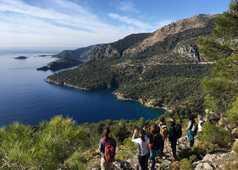 Randonneurs sur le sentier côtier de Lycie