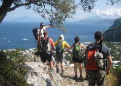 Randonneurs sur l'île de Capri