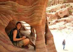 Roches colorées à Pétra, Jordanie