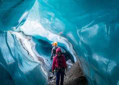 Tunnel de glace en Islande