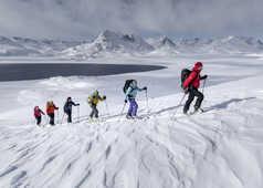 Voyage ski au Groenland en hiver