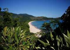 Vue sur la praia do sono à Paraty