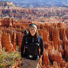 Aurélie au Bryce Canyon, USA