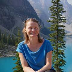 Elodie dans les Rocheuses canadiennes