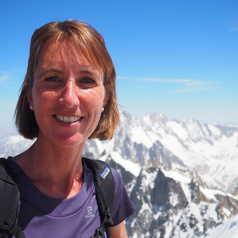 Sandra à l'aiguille du midi à Chamonix