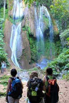 Cascade dans la Sierra del Escambray