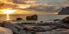 Coucher de soleil en Norvège, Lofoten