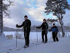 Balade en ski de fond près du lac d'Inari