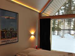 Chambre individuelle à l'écolodge d'Hossa en Finlande