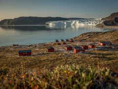 Glacier Eqi au Groenland