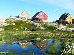 Ilulissat, maisons colorés du Groenland