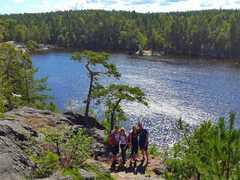 Randonnée dans l'archipel de Stockholm en Suède
