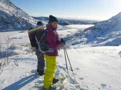 Sortie en raquettes à neige dans les Lofoten