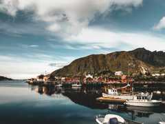 Sortie pêche en mer en Norvège dans les Lofoten