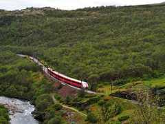 Voyage en train en Norvège