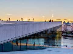 Vue de la ville d'Oslo en Norvège