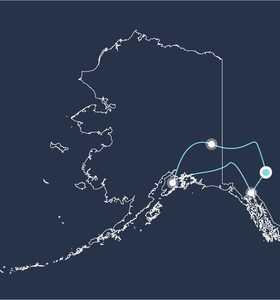 Carte voyage Alaska usa