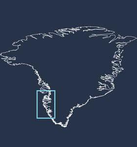 Carte général de voyage au Groenland