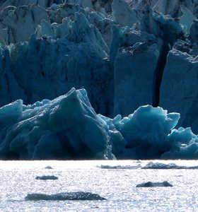 Glacier bleu Arctique Svalbard