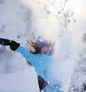 Voyage famille dans la neige en Finlande